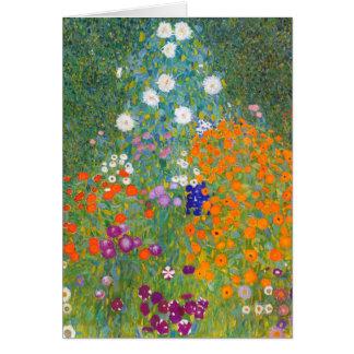 Gustavo Klimt: Jardín de flores Tarjeta