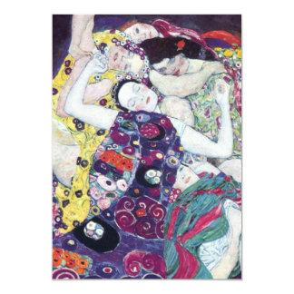 Gustavo Klimt las invitaciones de la Virgen Invitación 12,7 X 17,8 Cm