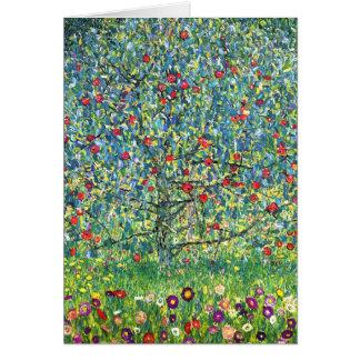 Gustavo Klimt: Manzano Tarjeta
