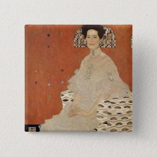 GUSTAVO KLIMT - Retrato de Fritza Riedler 1906 Chapa Cuadrada