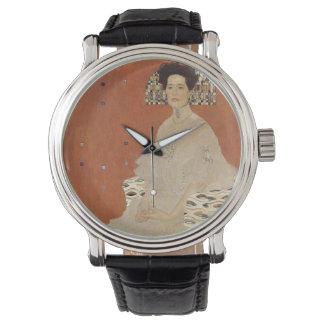 GUSTAVO KLIMT - Retrato de Fritza Riedler 1906 Reloj