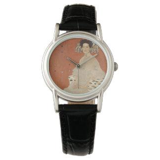 GUSTAVO KLIMT - Retrato de Fritza Riedler 1906 Reloj De Pulsera