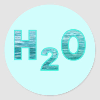 H2O PEGATINAS REDONDAS