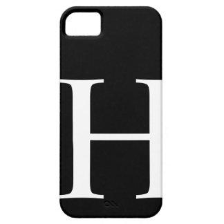 H inicial iPhone 5 cárcasas