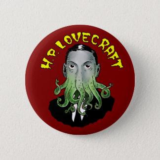 H.P. Lovecraft Button Chapa Redonda De 5 Cm