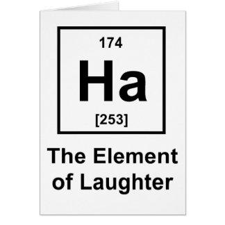 Ha, el elemento de la risa tarjeta de felicitación