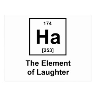 Ha, el elemento de la risa postal