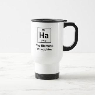 Ha, el elemento de la risa taza de viaje
