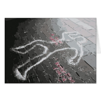 Ha sido el asesinato (alrededor de aquí) felicitación