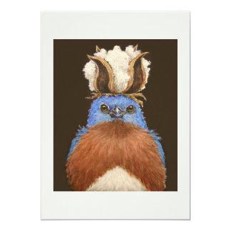 Haba la tarjeta plana del bluebird del este invitación 12,7 x 17,8 cm