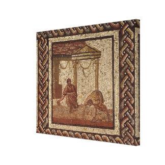 Habas de la siembra, de Santo-Romano-en-Galón Impresión En Lona Estirada