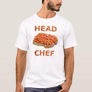 Habas del chef en tostada camiseta