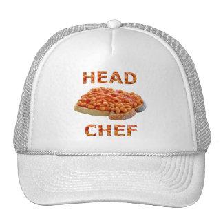 Habas del chef en tostada gorra