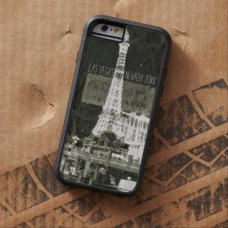 Haber inspirado retra de Las Vegas, torre Eiffel Funda Para iPhone 6 Tough Xtreme