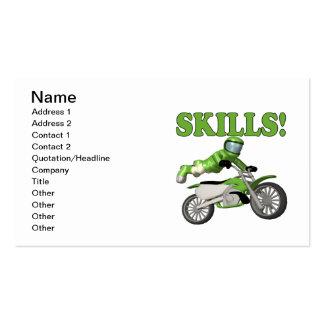 Habilidades 3 plantilla de tarjeta personal
