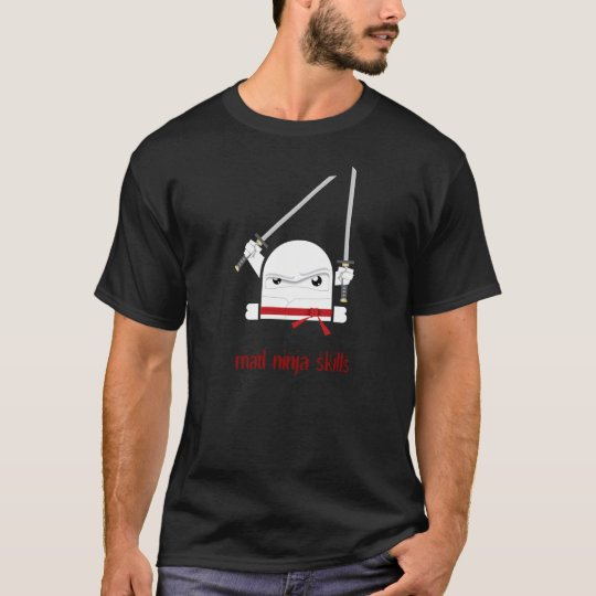 Habilidades enojadas del ninja camiseta