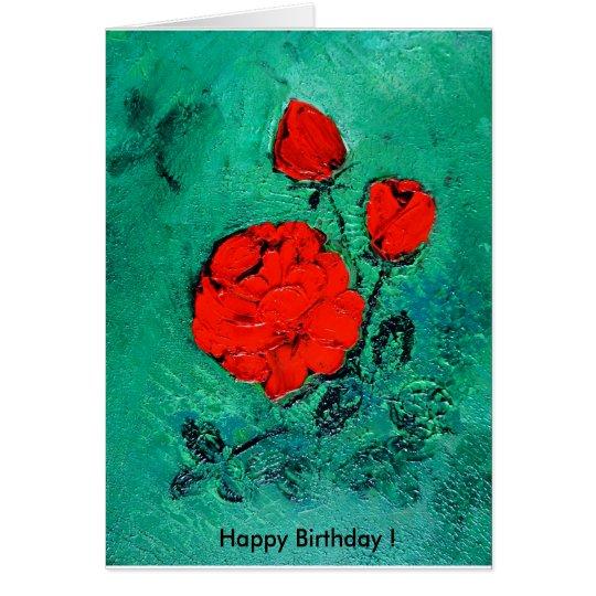 habla     Happy roses Birthday! Tarjeta De Felicitación