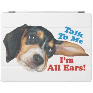 Hable conmigo, yo son todo el perrito del beagle cover de iPad
