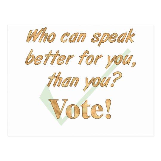 Hable para arriba y vote postal