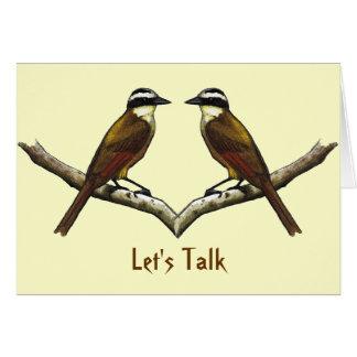 Hablemos: El hacer frente de dos pájaros: Tarjeta De Felicitación
