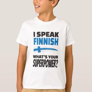 ¿Hablo finés - cuál es su superpotencia? Camiseta