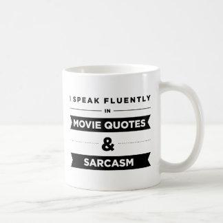 Hablo fluido en taza de las citas y del sarcasmo