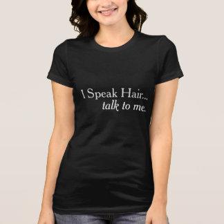 Hablo la camiseta del márketing del peluquero del
