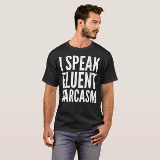 Hablo la camiseta fluida del texto de la