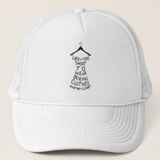 Hace compras mi gorra blanco de la gorra de