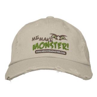 Hace la gorra de béisbol del logotipo del monstruo