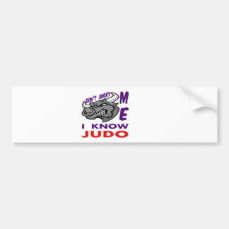 Hace no enojado, yo sabe judo pegatina para coche