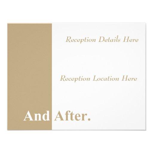 Hacemos la tarjeta de la recepción nupcial (de col comunicados
