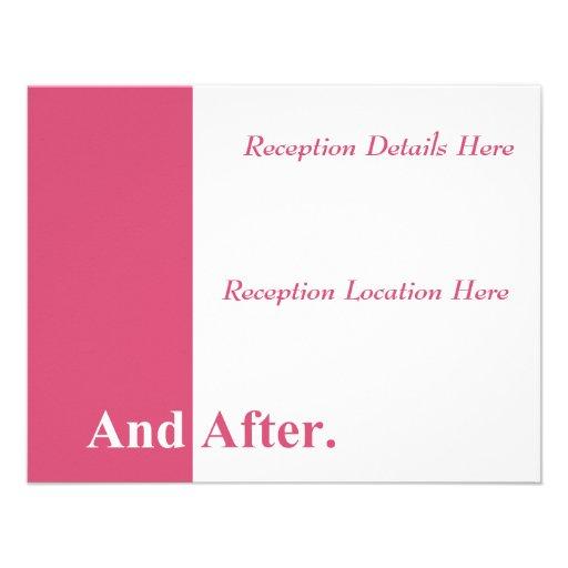 Hacemos la tarjeta de la recepción nupcial (la mad anuncio