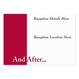 Hacemos la tarjeta de la recepción nupcial tarjeta de negocio