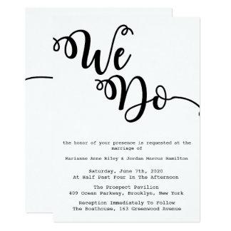 Hacemos, las invitaciones simples, modernas del invitación 12,7 x 17,8 cm