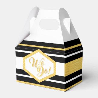 HACEMOS negro personalizado boda del oro de la Caja De Regalos