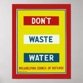 Hacen no las aguas residuales póster