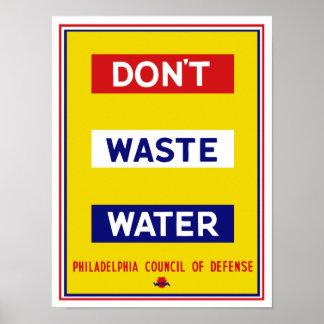 Hacen no las aguas residuales -- WPA Póster