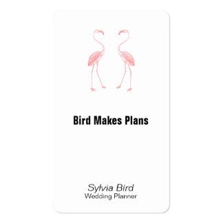 Hacer frente a flamencos plantillas de tarjetas de visita