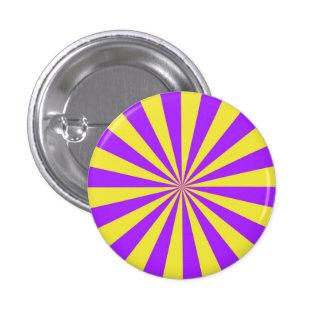 Haces de Sun en el botón violeta y amarillo Pin