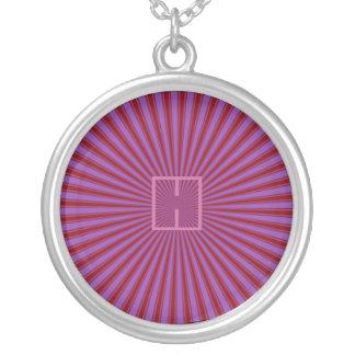 Haces, rojo y púrpura retros enrrollados colgante redondo