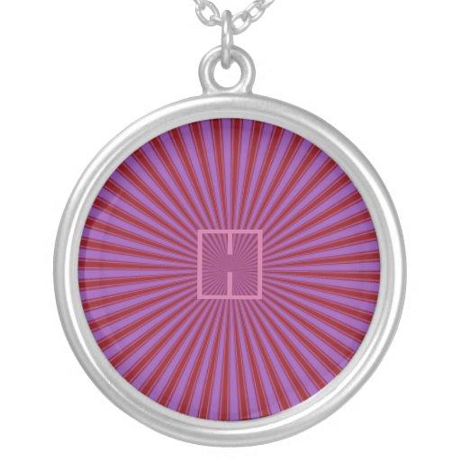 Haces, rojo y púrpura retros enrrollados joyería