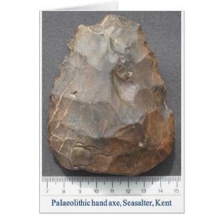 Hacha de mano paleolítica tarjeta de felicitación
