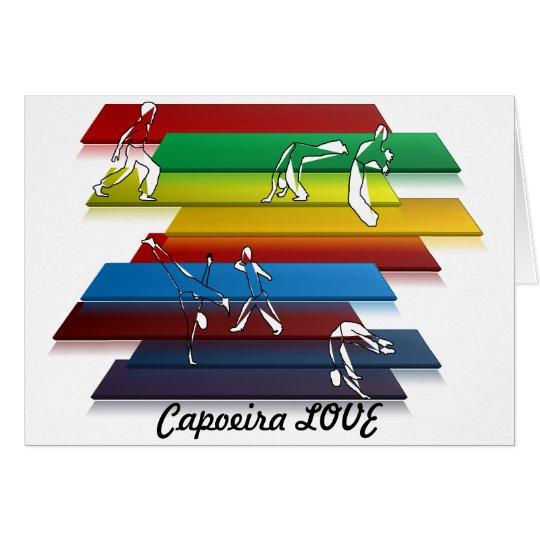 hacha del amor del capoeira de los artes marciales tarjeta de felicitación