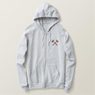 Hachas cruzadas chaqueta de deporte bordada