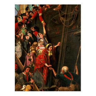 ¡Hacia el este Ho! , 1859 Postal