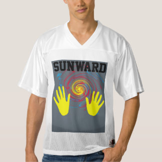 hacia el sol camiseta de fútbol americano para hombre