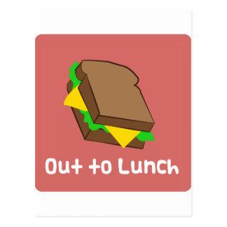 Hacia fuera al almuerzo postal