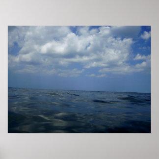 Hacia fuera al mar, poster de la fotografía del oc