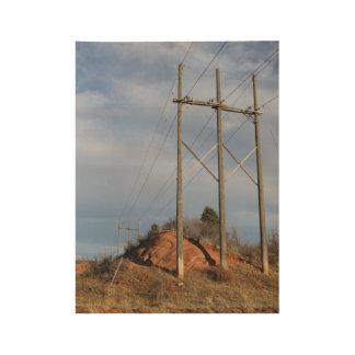 Hacia fuera al oeste póster de madera